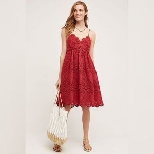 Maeve Red Eyelet Lace Summer Moon Dress